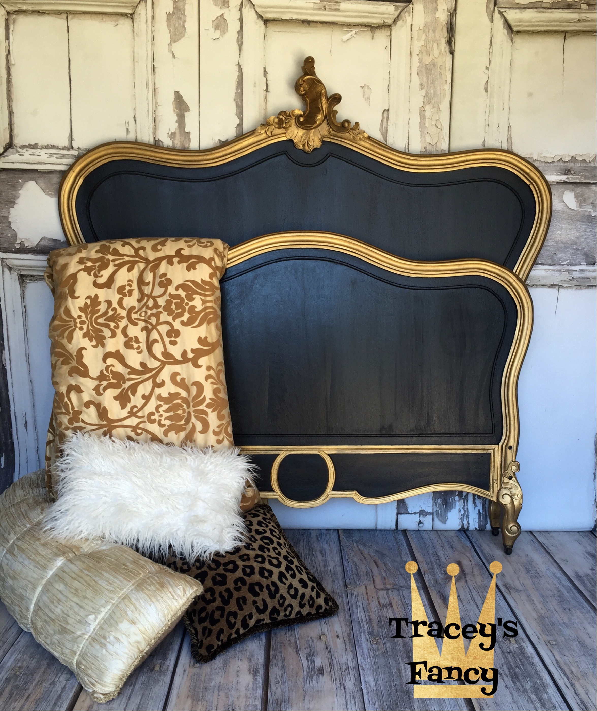 Classic White Vs Classic Black Painted Headboard